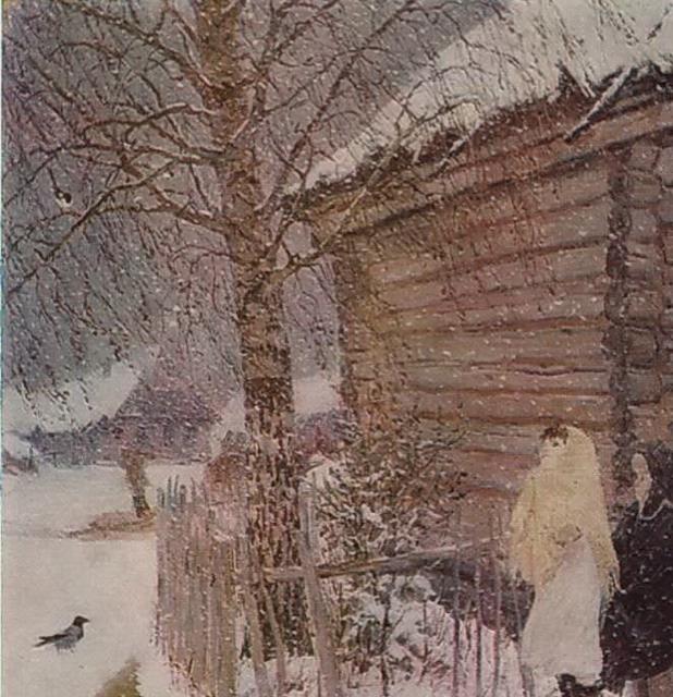 картинка платонова первый снег белого