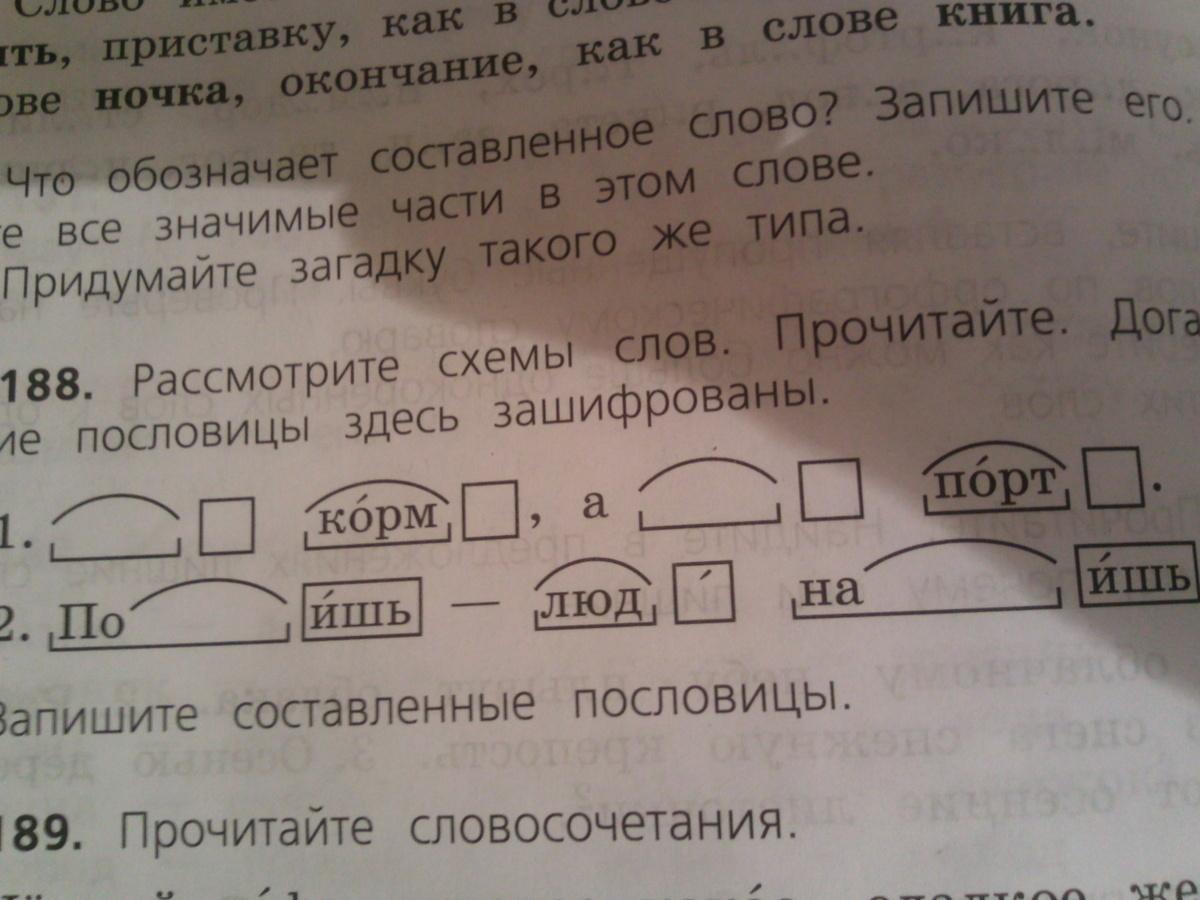 Составить слова по схеме 2 корня окончание