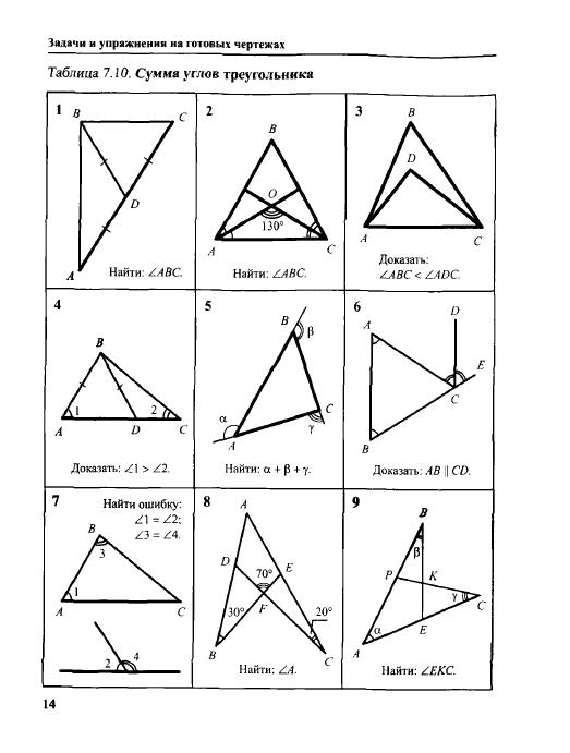 Класс гдз геометрии углов 7 тест треугольника сумма по